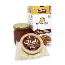 CALDERO: CALDO + ARROZ + ALLIOLI