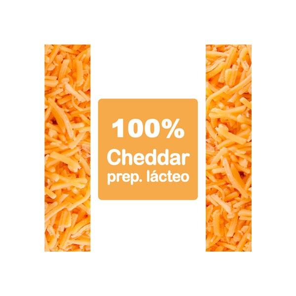 PREP. LÁCTEO CHEDDAR RALLADO CASERO